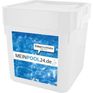 5 kg Chlor Multitabs 200g Tabs 5 in 1 Poolchemie Chlortabs Chlortabletten