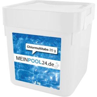 2x5 kg Chlormutltitabs total blue 20g langsamlöslich