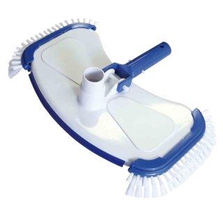 Bodensauger de Luxe Aufsatz für Schwimmbadschlauch 32 / 38 mm Bürste