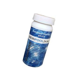 Wasserteststreifen Pool Teststreifen 50 Stck pH/Chlor